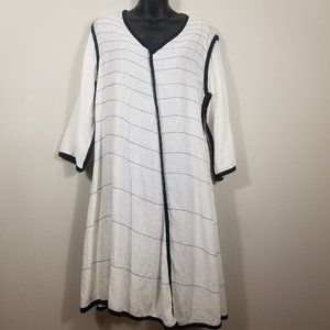 CYNTHIA ASHBY XS Linen Asymmetric Shift Dress